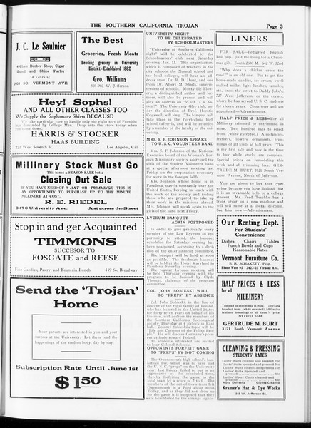 The Southern California Trojan, Vol. 8, No. 51, January 09, 1917