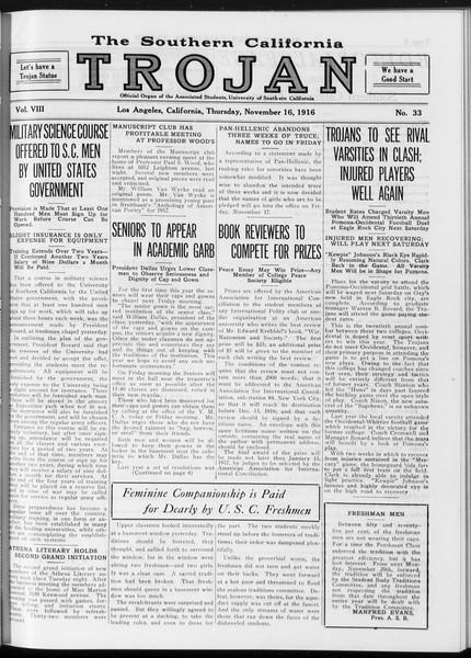 The Southern California Trojan, Vol. 8, No. 33, November 16, 1916
