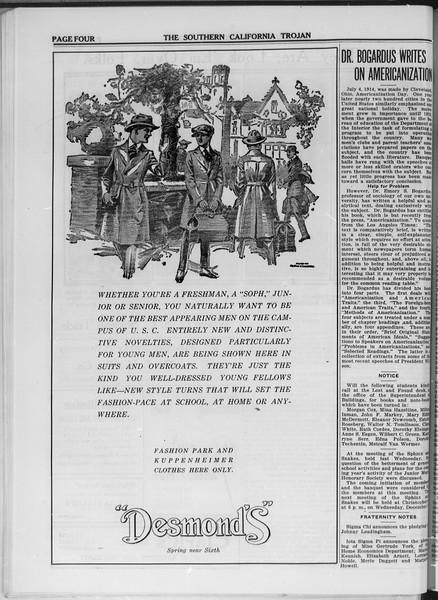 The Southern California Trojan, Vol. 11, No. 17, November 07, 1919