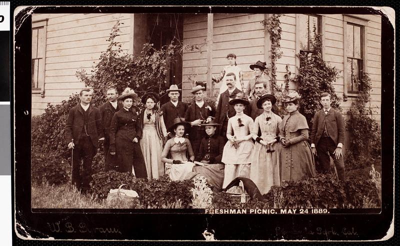 USC freshmen picnic, 1889