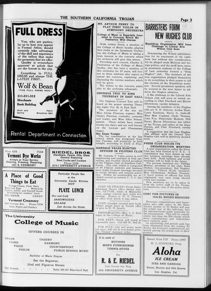 The Southern California Trojan, Vol. 8, No. 21, October 24, 1916