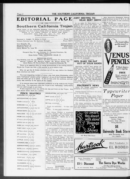 The Southern California Trojan, Vol. 10, No. 15, April 18, 1919