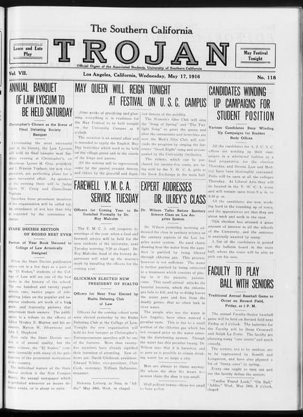 The Southern California Trojan, Vol. 7, No. 118, May 17, 1916