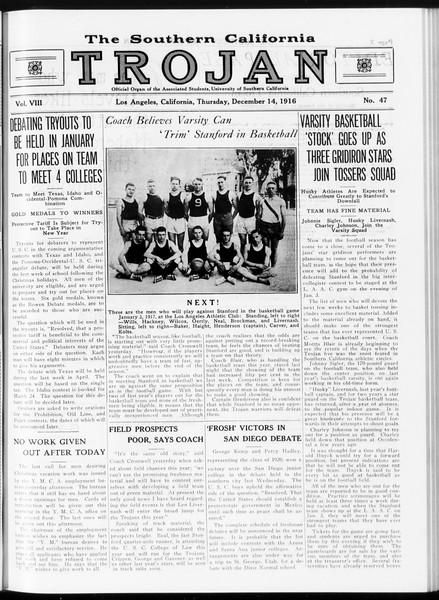 The Southern California Trojan, Vol. 8, No. 48, December 15, 1916
