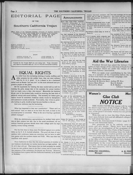 The Southern California Trojan, Vol. 9, No. 2, October 02, 1917