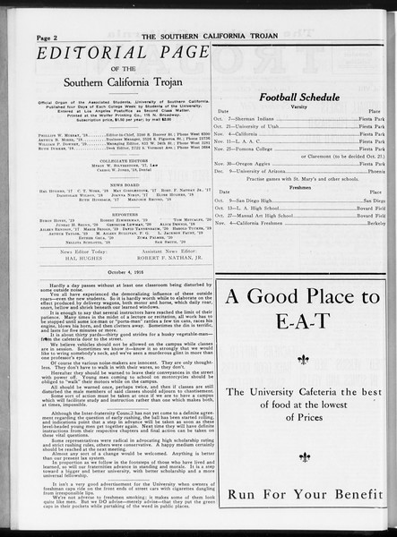 The Southern California Trojan, Vol. 8, No. 10, October 04, 1916