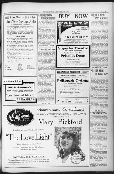 The Southern California Trojan, Vol. 12, No. 52, January 21, 1921