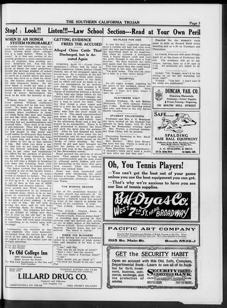 The Southern California Trojan, Vol. 10, No. 16, April 22, 1919