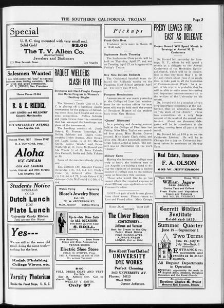 The Southern California Trojan, Vol. 7, No. 105, April 25, 1916
