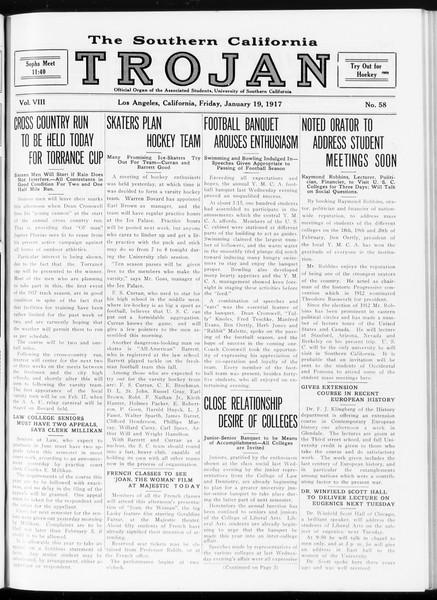 The Southern California Trojan, Vol. 8, No. 58, January 19, 1917