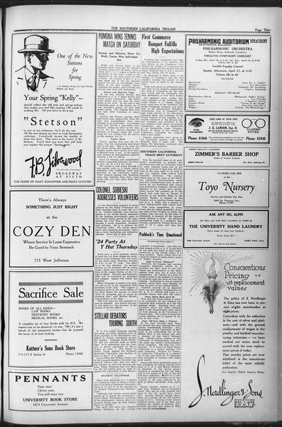 The Southern California Trojan, Vol. 12, No. 71, April 13, 1921