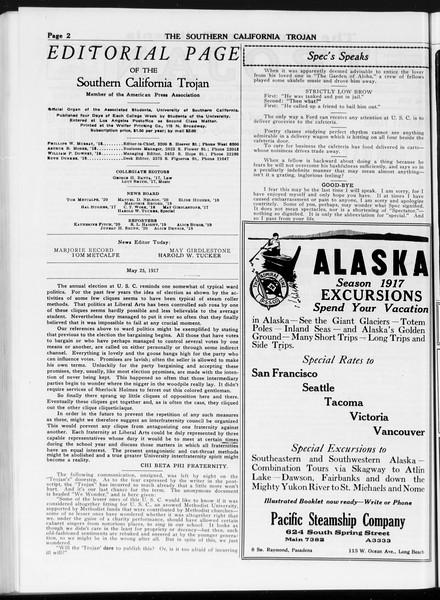 The Southern California Trojan, Vol. 8, No. 117, May 25, 1917