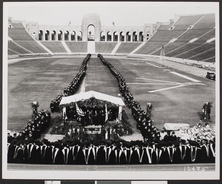 Graduation line of march, 1931