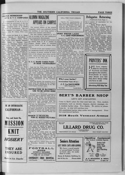 The Southern California Trojan, Vol. 11, No. 38, January 06, 1920