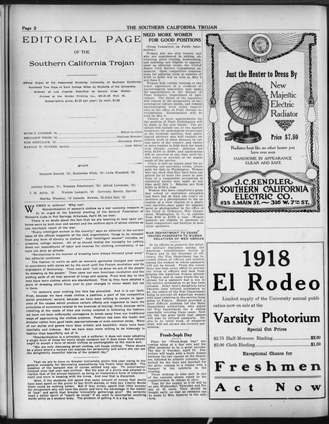 The Southern California Trojan, Vol. 9, No. 40, April 15, 1918