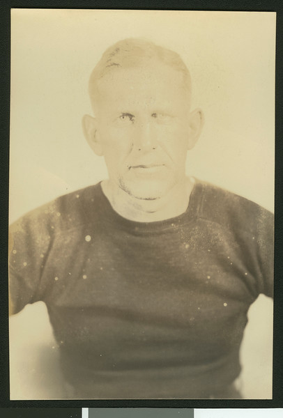 University of Southern California football coach Howard Jones, from waist up, 1929.