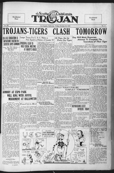The Southern California Trojan, Vol. 12, No. 17, October 22, 1920