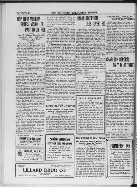 The Southern California Trojan, Vol. 11, No. 16, November 06, 1919