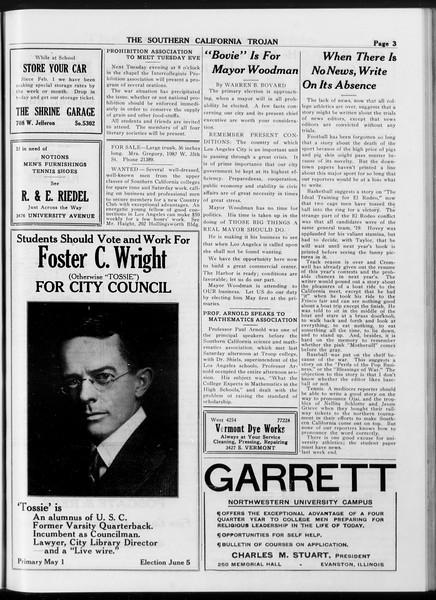 The Southern California Trojan, Vol. 8, No. 100, April 24, 1917