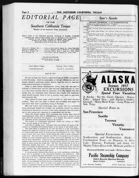 The Southern California Trojan, Vol. 8, No. 102, April 26, 1917