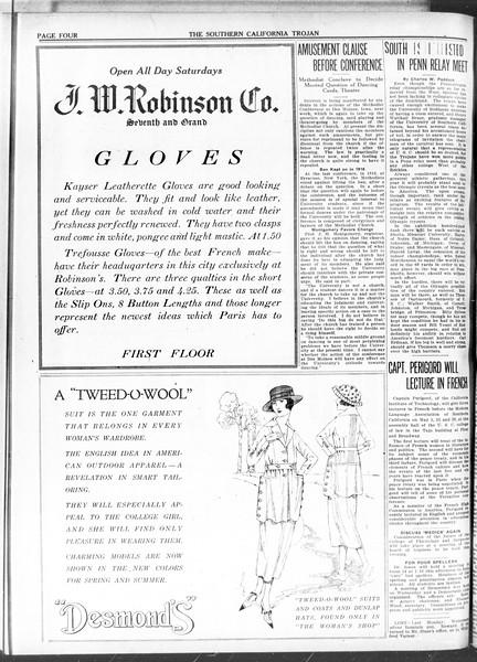 The Southern California Trojan, Vol. 11, No. 89, April 30, 1920