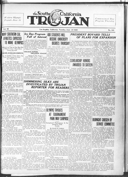 The Southern California Trojan, Vol. 11, No. 103, June 15, 1920