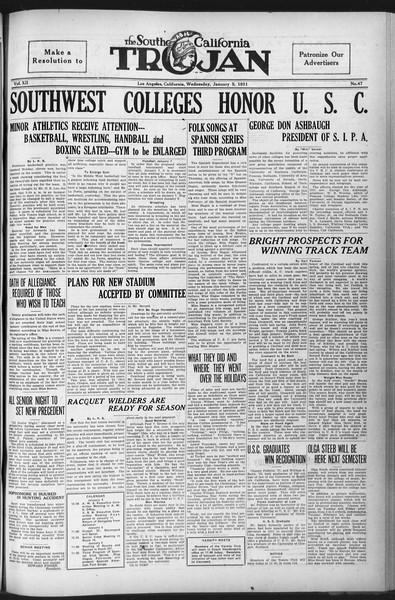 The Southern California Trojan, Vol. 12, No. 47, January 05, 1921