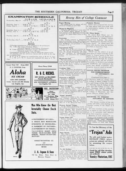 The Southern California Trojan, Vol. 7, No. 119, May 18, 1916