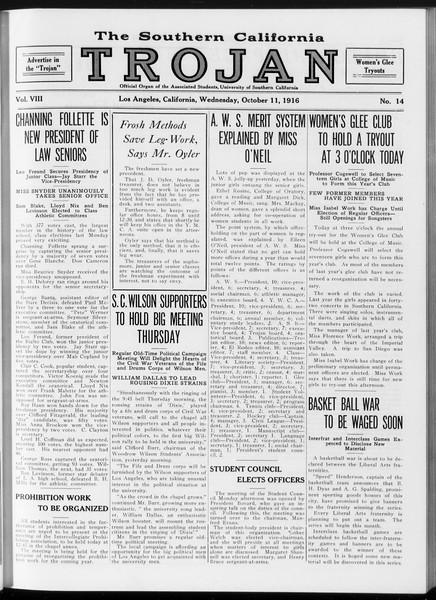 The Southern California Trojan, Vol. 8, No. 14, October 11, 1916