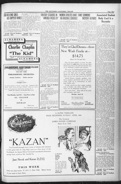 The Southern California Trojan, Vol. 12, No. 74, April 22, 1921