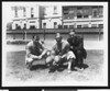 University of Southern California football coach Howard Jones with Al Wesson and Henry Bruce, Bovard Field, mid 1930s.