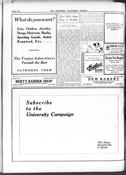 The Southern California Trojan, Vol. 11, No. 82, April 13, 1920