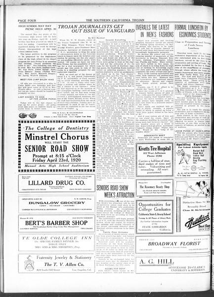 The Southern California Trojan, Vol. 11, No. 86, April 20, 1920
