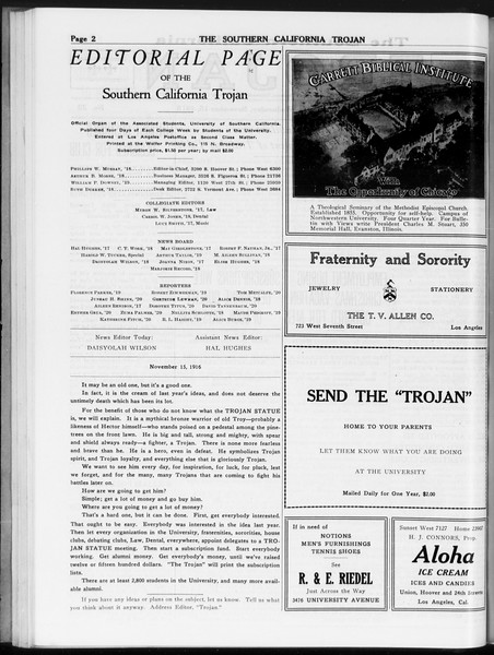 The Southern California Trojan, Vol. 8, No. 32, November 15, 1916