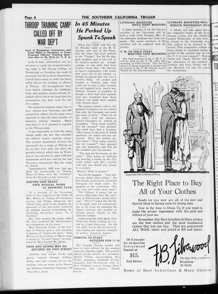 The Southern California Trojan, Vol. 8, No. 112, May 14, 1917