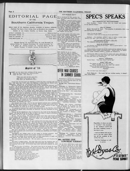 The Southern California Trojan, Vol. 9, No. 44, May 24, 1918