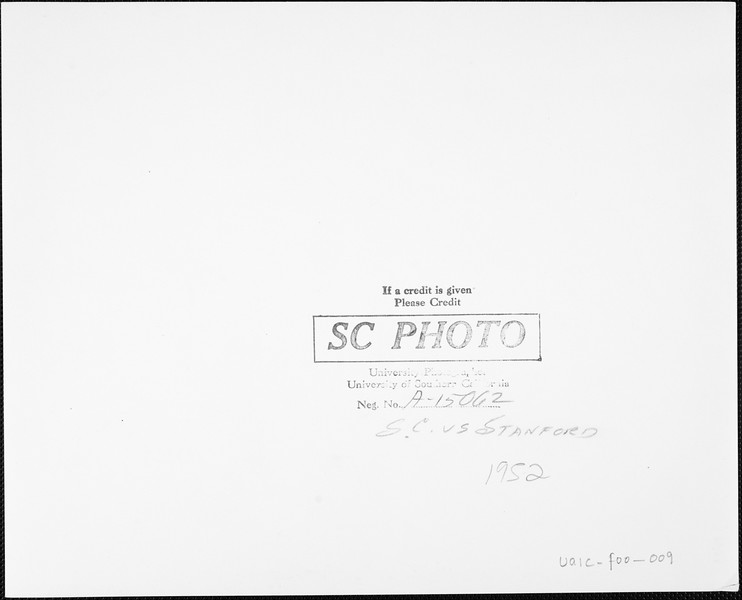 USC  versus Stanford football, 1952