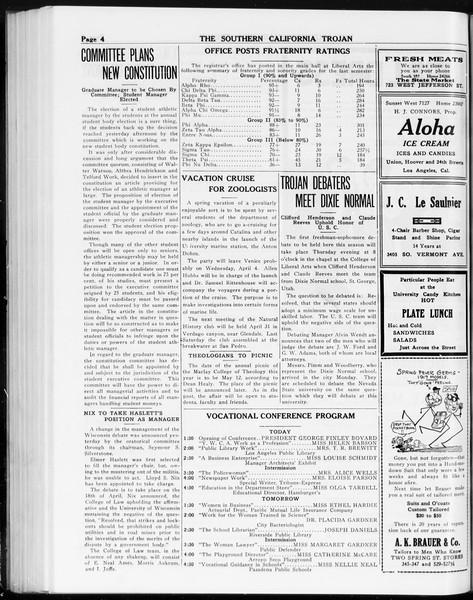 The Southern California Trojan, Vol. 8, No. 89, March 28, 1917