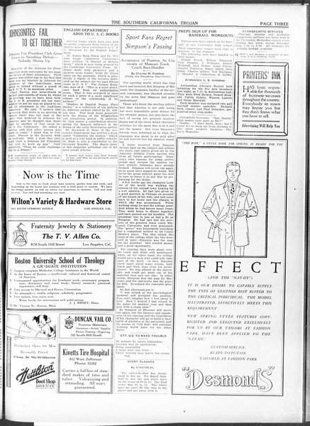 The Southern California Trojan, Vol. 11, No. 79, April 07, 1920