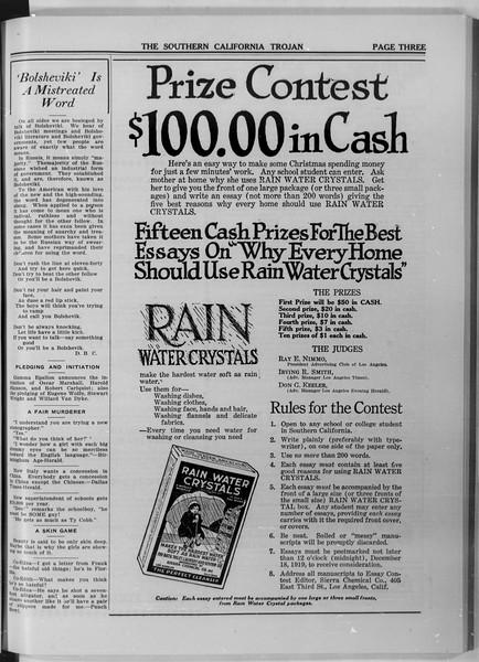 The Southern California Trojan, Vol. 11, No. 26, December 02, 1919