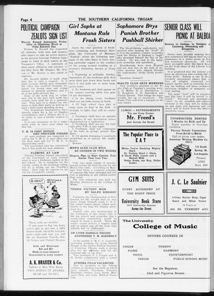 The Southern California Trojan, Vol. 8, No. 7, September 28, 1916