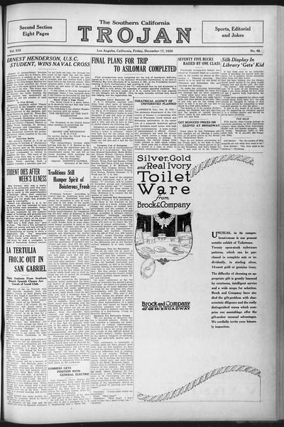 The Southern California Trojan, Vol. 12, No. 45, December 17, 1920