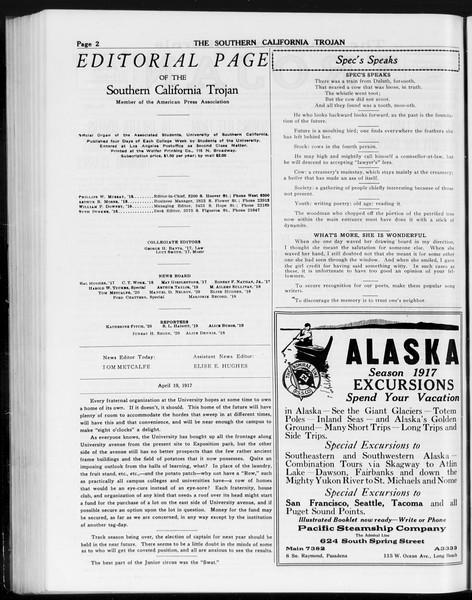The Southern California Trojan, Vol. 8, No. 98, April 19, 1917