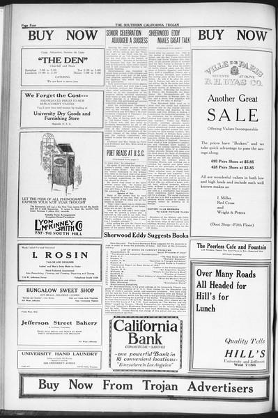 The Southern California Trojan, Vol. 12, No. 53, January 26, 1921