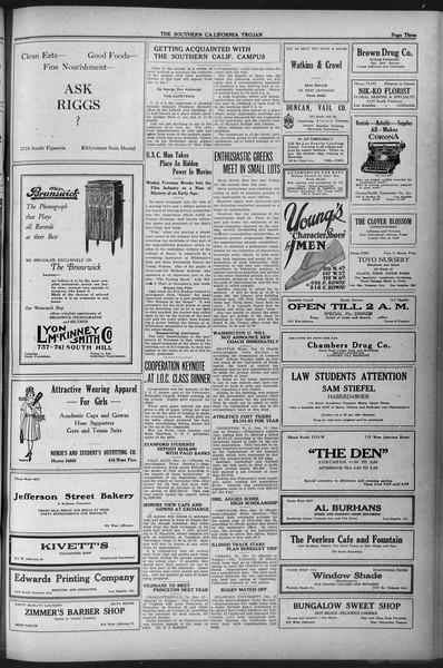 The Southern California Trojan, Vol. 12, No. 42, December 14, 1920