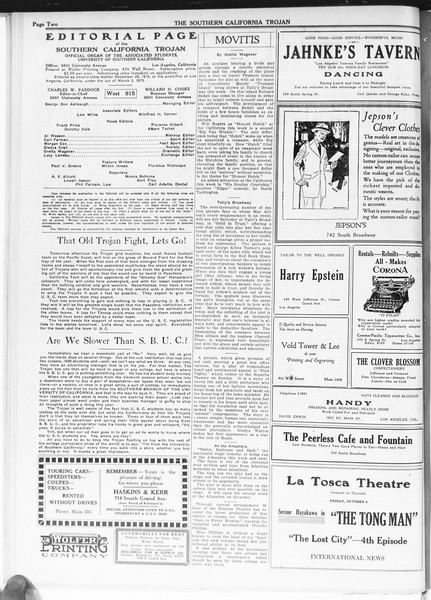 The Southern California Trojan, Vol. 12, No. 9, October 08, 1920