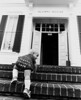 13-month  Erik Ward climbing the steps of Widney Alumni House, USC, 1979