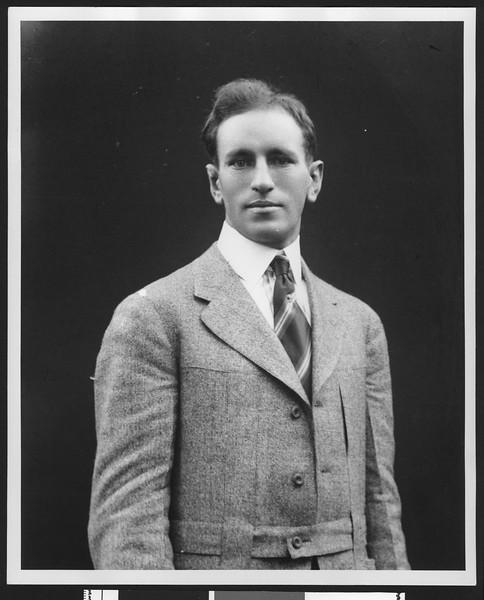 University of Southern California freshman football coach Fred Teschke, 1915.