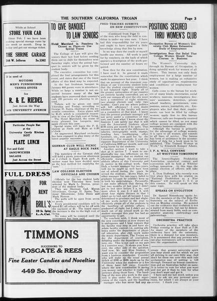 The Southern California Trojan, Vol. 8, No. 109, May 09, 1917