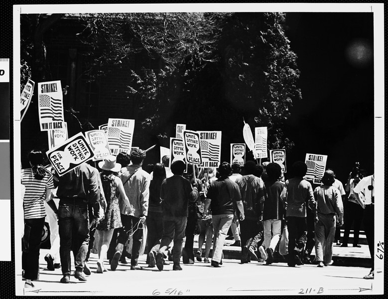 Hundreds of USC students joined the Days of Concern, USC, 1970